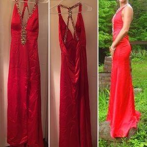 Gorgeous GiGi Red Prom Dress